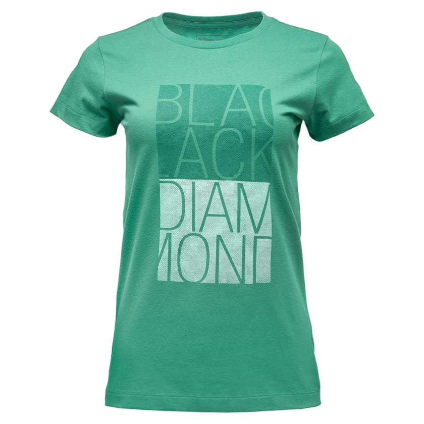 BLACK DIAMOND BLOCK TEE - T-SHIRT I ØKOLOGISK BOMULL DAME