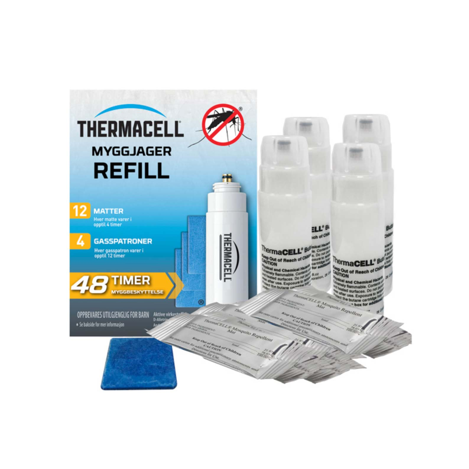 THERMACELL - MYGGJAGER REFILL 4-PK