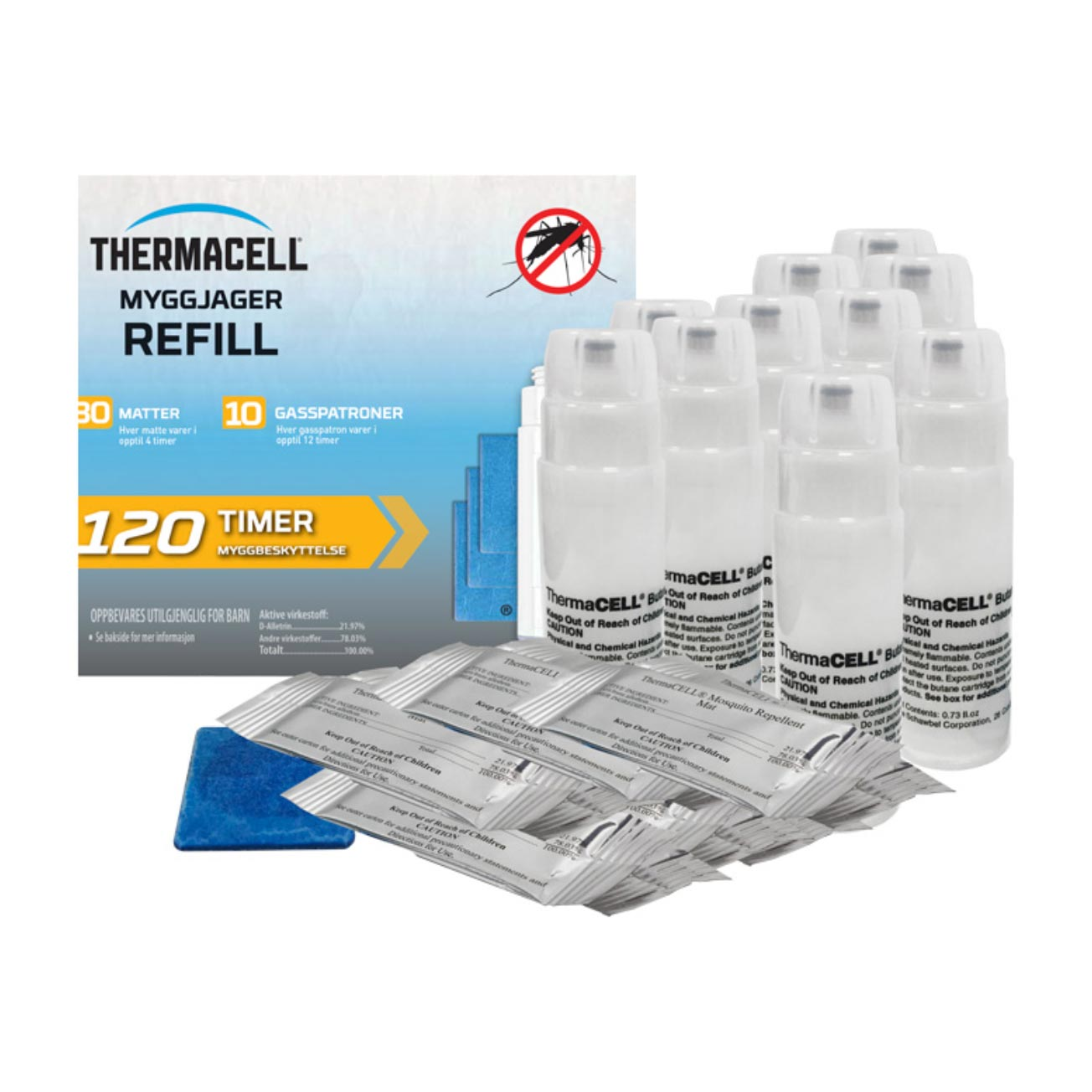 THERMACELL - MYGGJAGER REFILL 10-PK