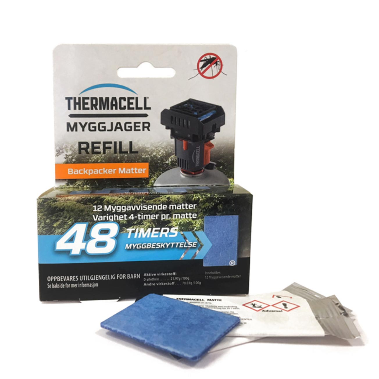 MYGGJAGER BACKPACKER REFILL 48 TIMER