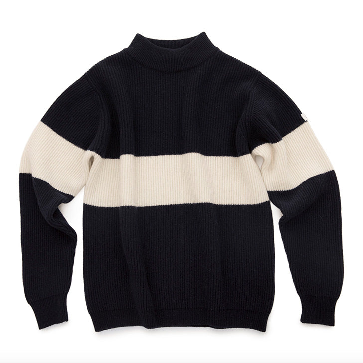 FJELL^ MT HIGH MOUNTAIN MERINO STRIPE SWEATER – NAVY