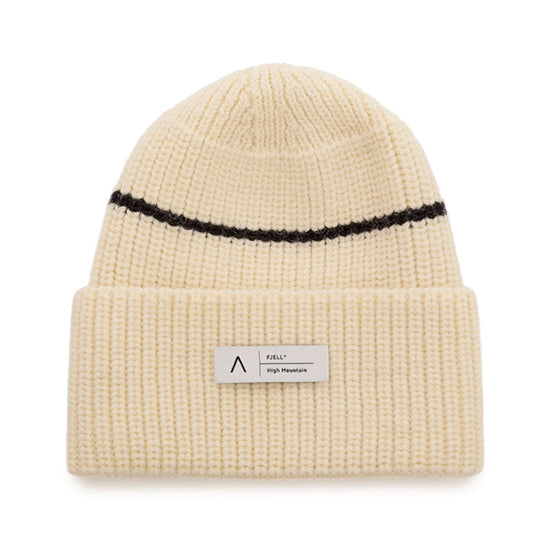 FJELL^ MT HIGH MOUNTAIN MERINO STRIPE HAT – HVIT