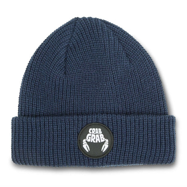 CRAB GRAB CIRCLE PATCH BEANIE – NAVY