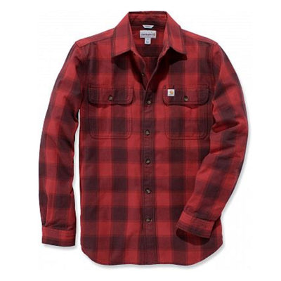 CARHARTT HUBBARD FLANNEL SHIRT SLIM FIT – RØD