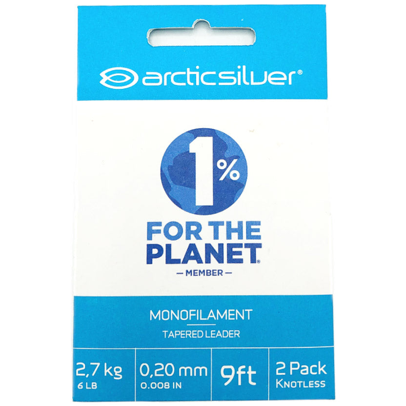 ARCTICSILVER MONOFILAMENT TAPERED LEADER 2PK