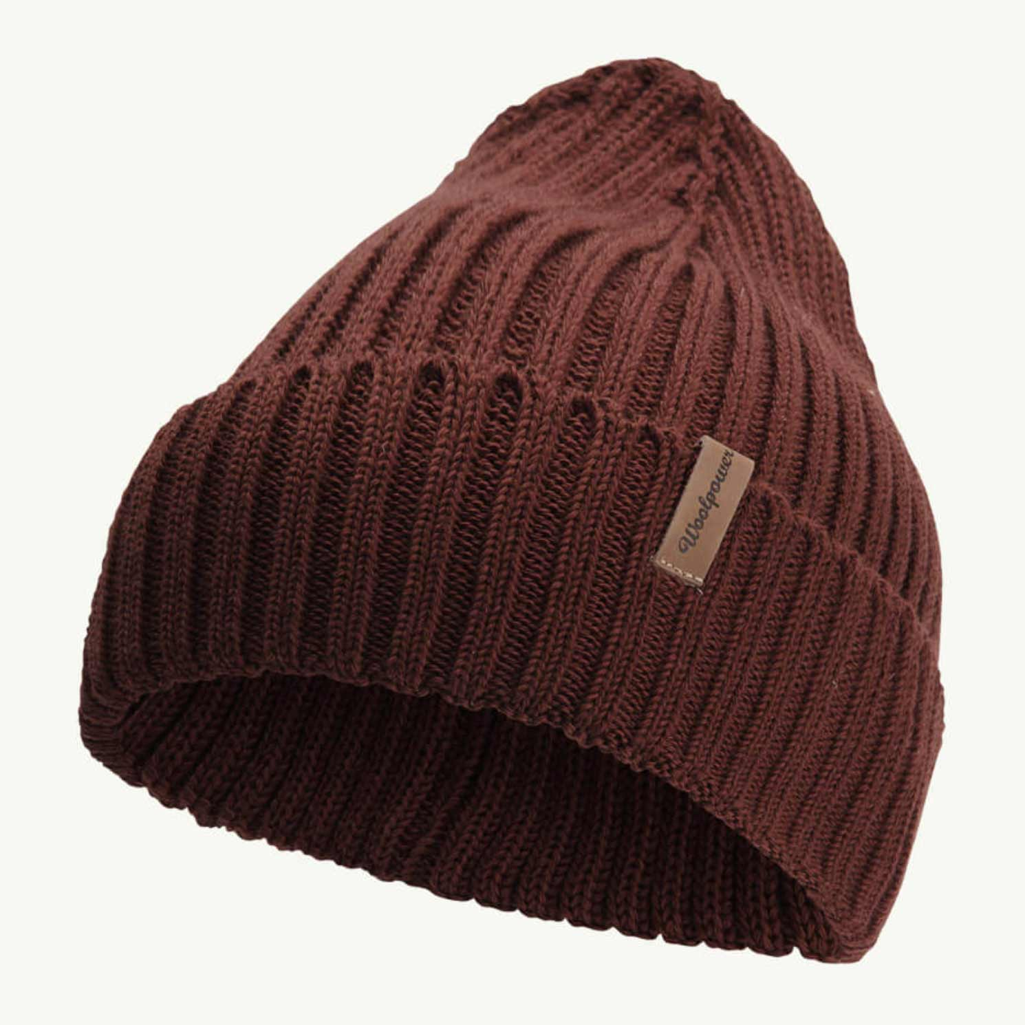 WOOLPOWER BEANIE RIB – RUST RED