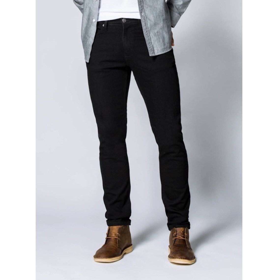 DUER SLIM PERFORMANCE DENIM - BLACK - HERRE