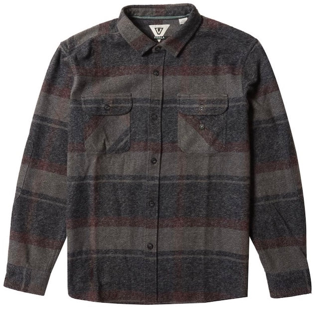 VISSLA – BARNS LS FLANNEL SKJORTE BLACK