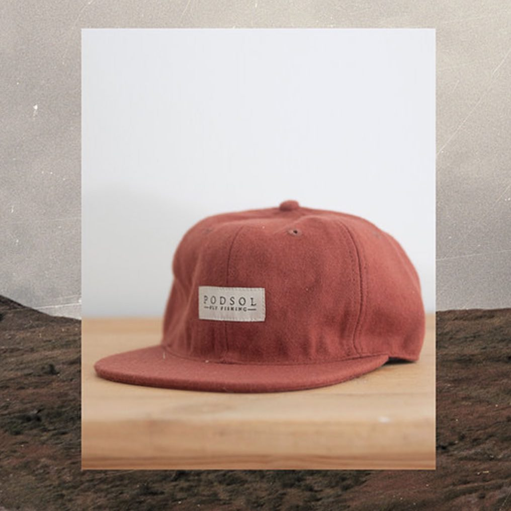 PODSOL RED RUSTY WOOL ULLCAPS
