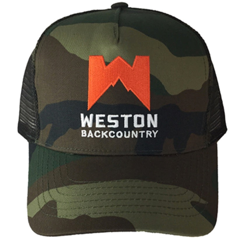 WESTON CAMO TRUCKER CAPS