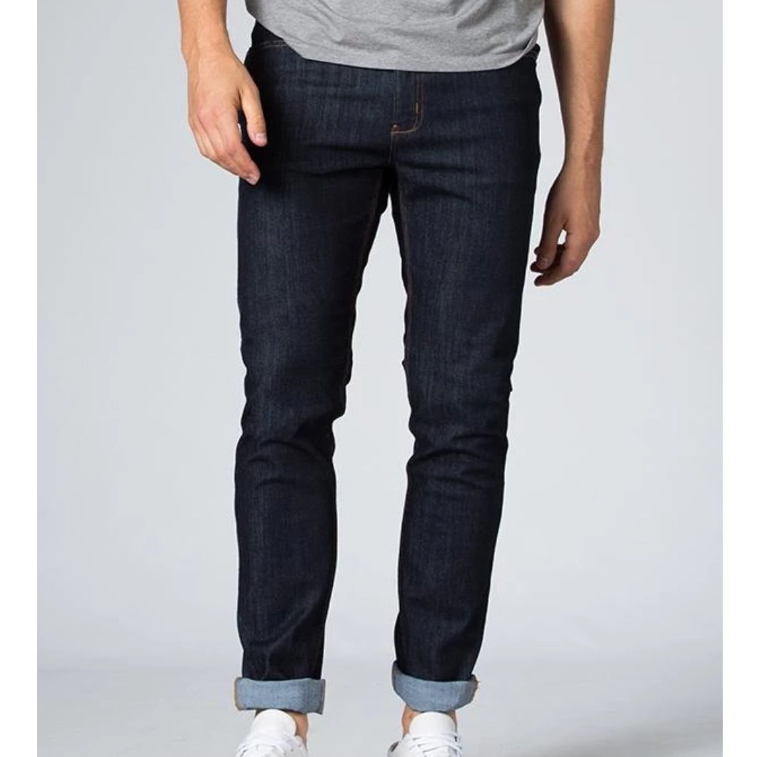 DUER SLIM FIT PERFORMANCE JEANS HERITAGE RINSE - HERRE