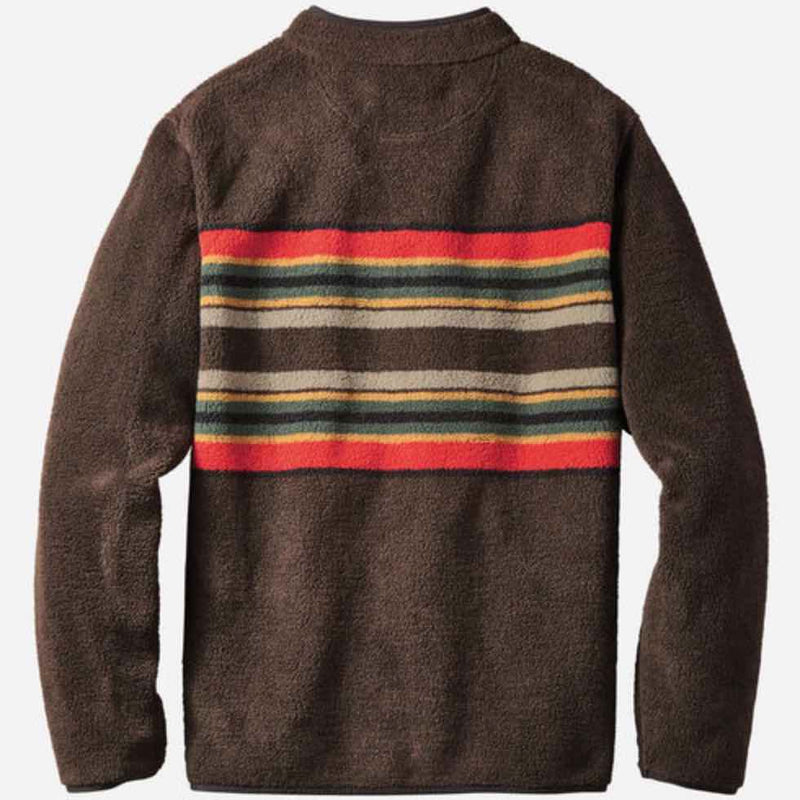PENDLETON CAMP STRIPE FLEECE JAKKE - HERRE