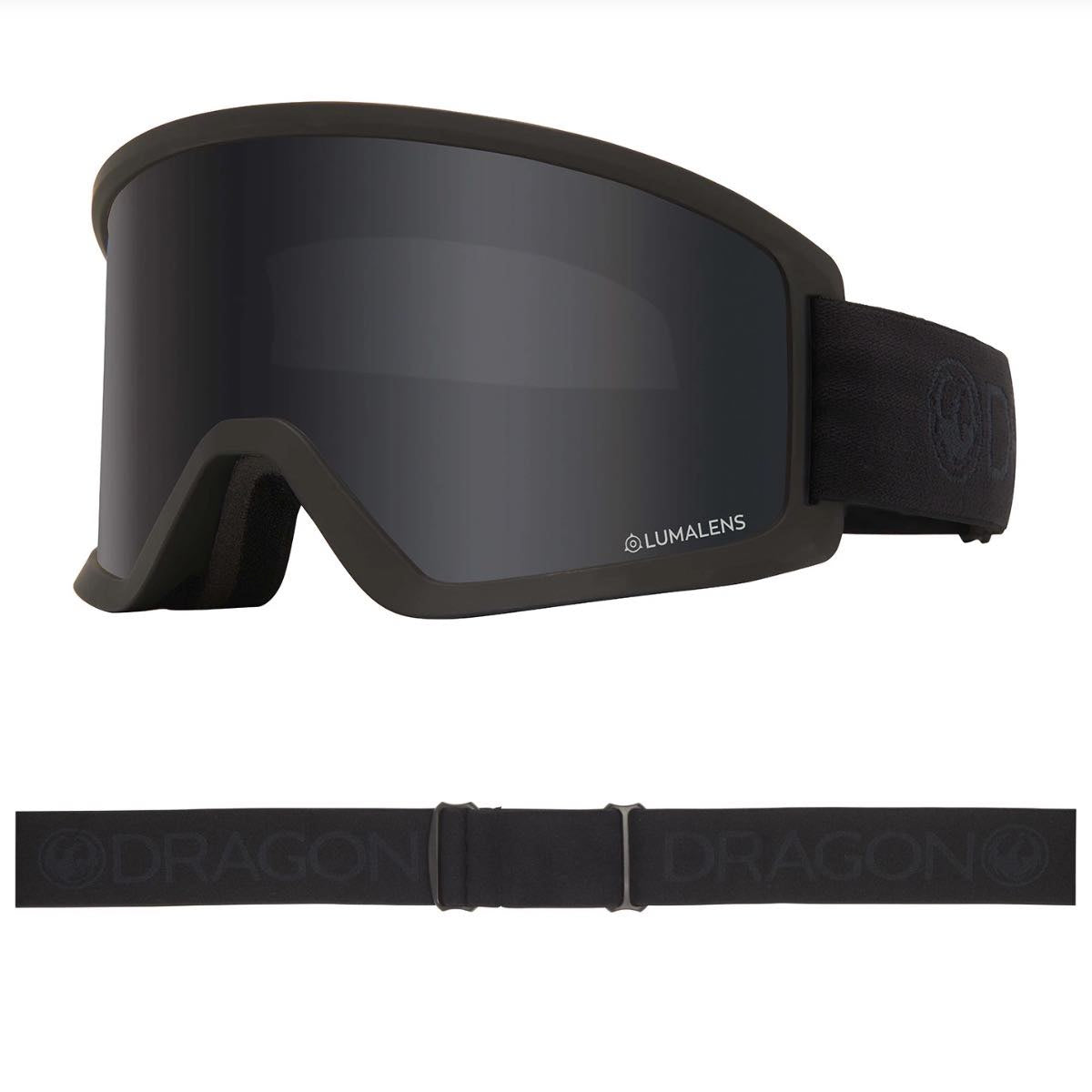 DRAGON DX3 OTG BLACKOUT MED LUMALENS DARK SMOKE LENS - GOGGLES