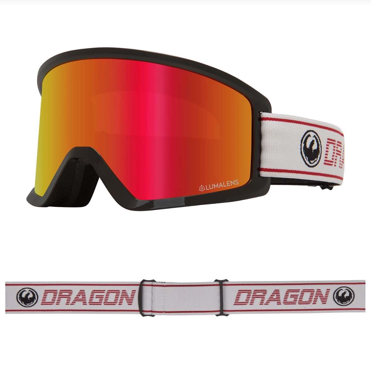 DRAGON DX3 OTG BENTAM MED LUMALENS RED IONIZED LENS - GOGGLES