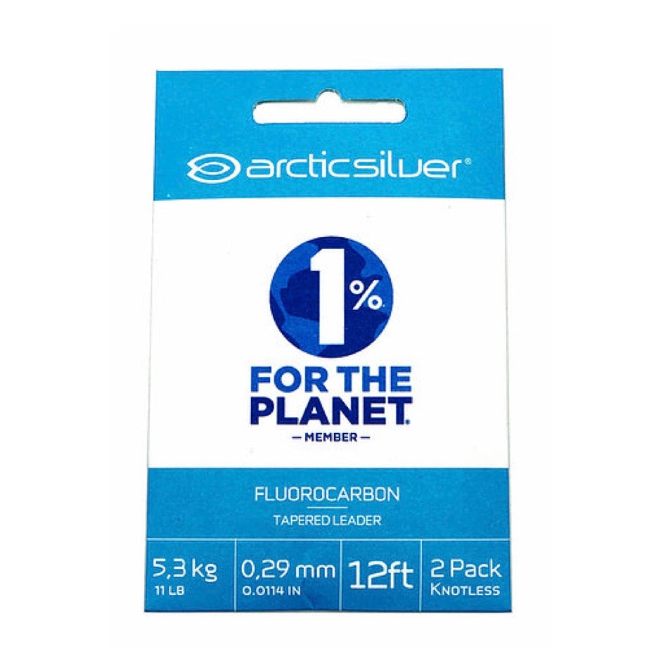 ARCTICSILVER FLUOROCARBON TAPERED LEADER 2PK