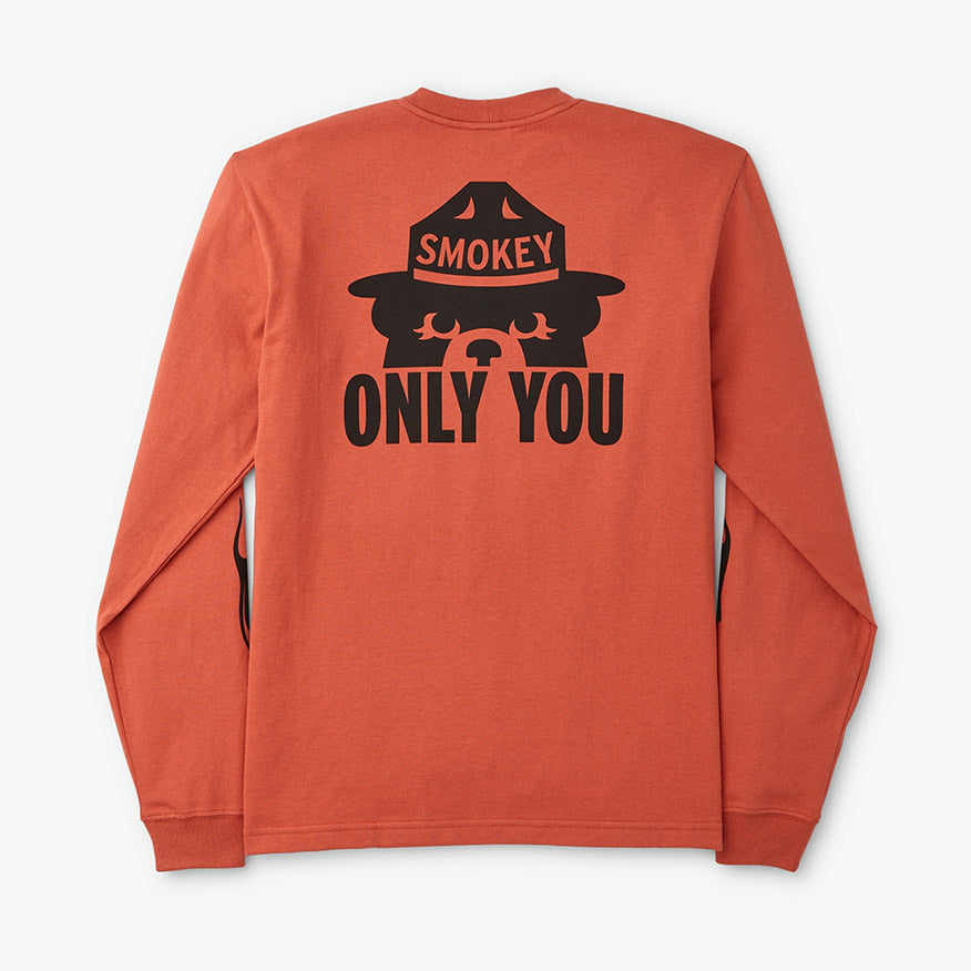 FILSON SMOKEY BEAR LONG-SLEEVE T-SHIRT – FLAME