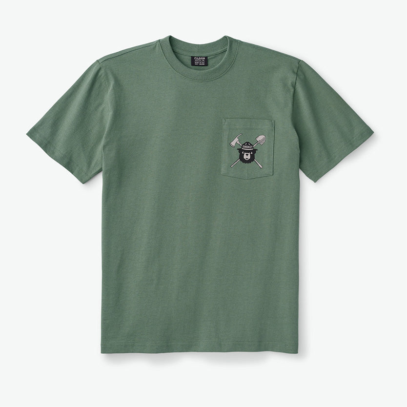 FILSON SMOKEY BEAR SHORT-SLEEVE ONE POCKET T-SHIRT