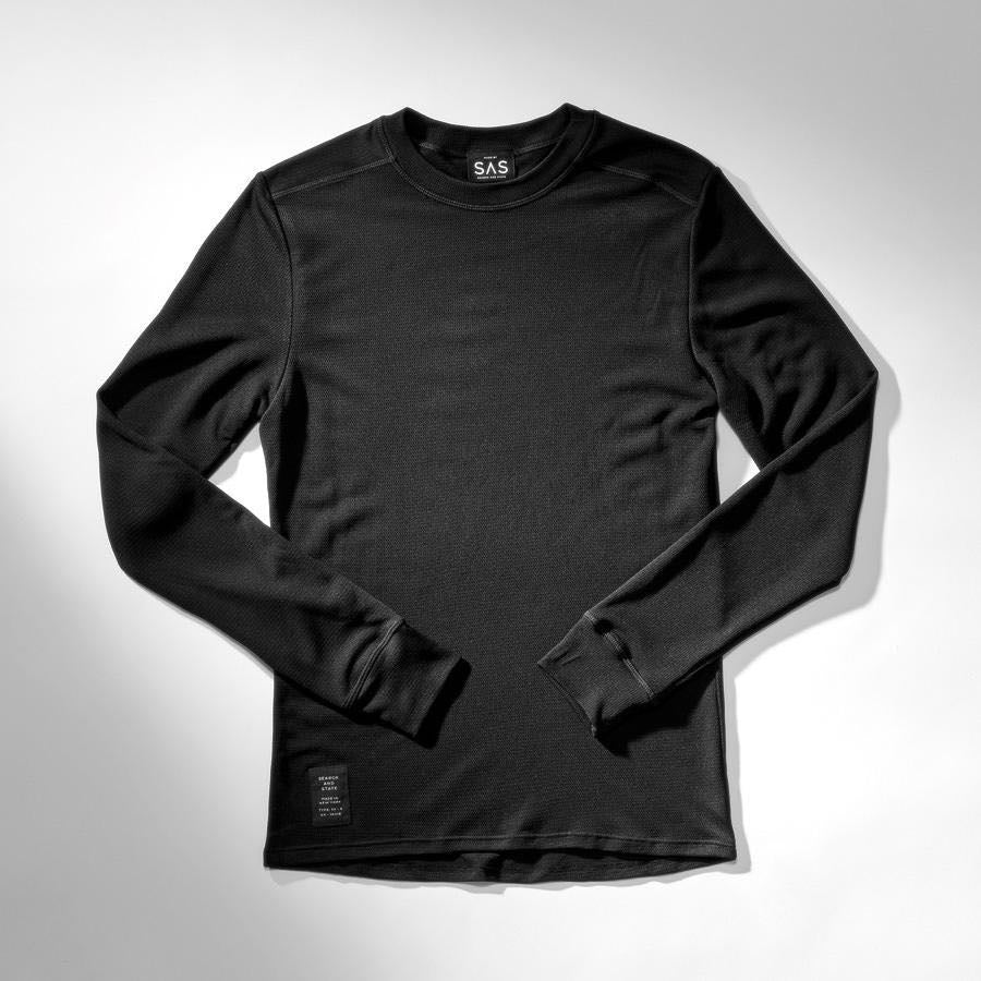 SEARCH AND STATE - THERMAL MERINO BASE LAYER SVART