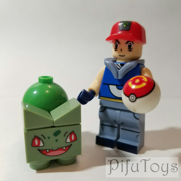 Pokemon - Lot de 8 Minifigures Pokemon et dresseurs compatible lego