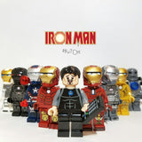 Iron Man - Lot de 9 Minifigures Iron Man compatible lego