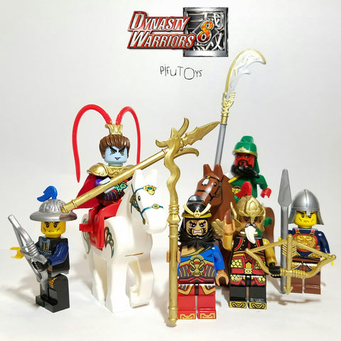 Dynasty Warrior B (Les 3 royaumes) - Lot de 6 Minifigures et 2 chevaux