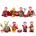 Noël - Lot de 8 minifigurines Superhéros Noël compatible lego