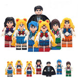Sailormoon - Lot de 7 Minifigures Sailor Moon compatible lego