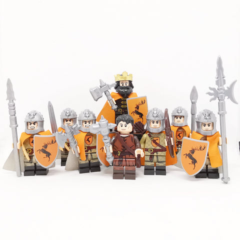 GOT - Lot de 8 minifigurines Maison Baratheon