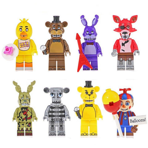 FNAF - Lot de 8 minifigurines Five Nights at Freddy's