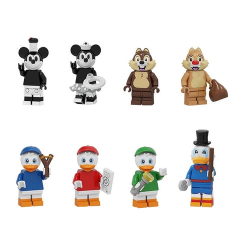 Cartoon - Lot de 8 minifigures cartoon