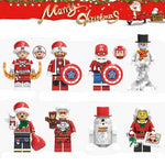 Noël - Lot de 8 minifigurines Superhéros Noël