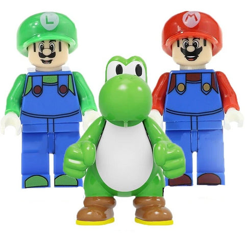 Super Plombier - Lot de 3 minifigurines Super Plombier