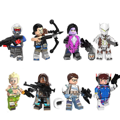Overwatch - Lot de 8 minifigures Overwatch compatible lego