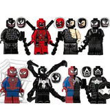 Venom - Lot de 8 Minifigures univers Venom compatible lego