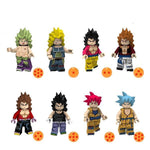 DBZ - Lot de 8 minifigurines DBZ compatible briques
