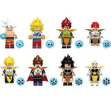 DBZ - Lot de 8 minifigurines DBZ compatible brique