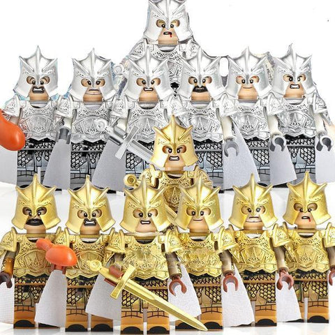 GOT - Lot de 6 ou 7 minifigures Garde Royale Gold, Silver ou Stark au choix