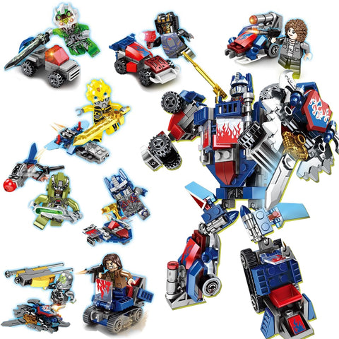 Transformers - 1 Optimus Prime à constuire 8 en 1 incluant 7 minifigures