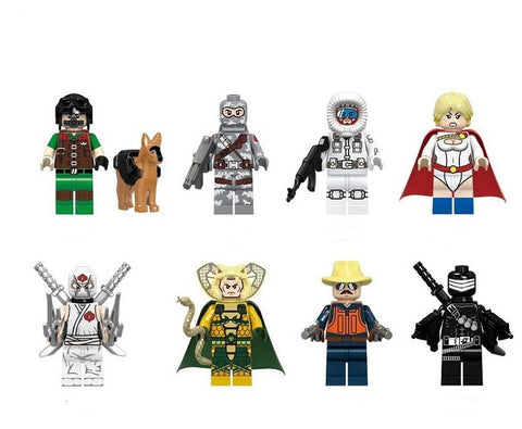 G.I JOE - Lot de 8 minifigurines G.I. JOE compatible briques