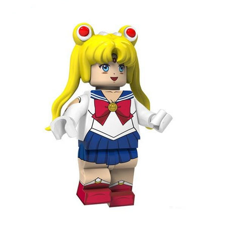 Sailormoon - Lot de 8 minifigurines Sailormoon compatibles briques