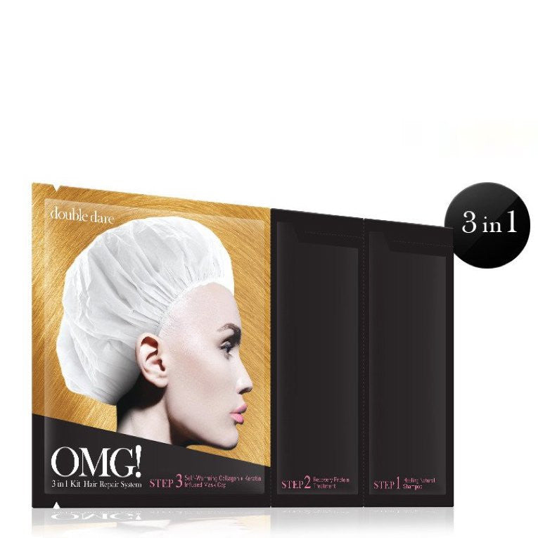 DOUBLE DARE OMG! 3 in 1 Kit Hair Repair System Mask