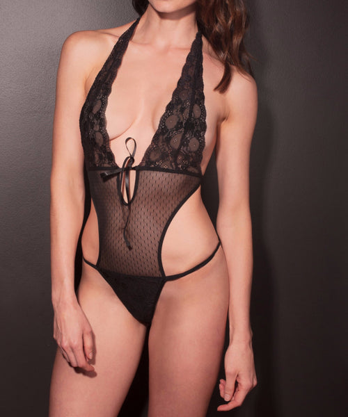 Black Lace & Mesh Teddy