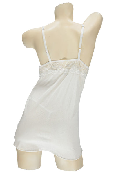 White Open Cup Chemise & G-String Set