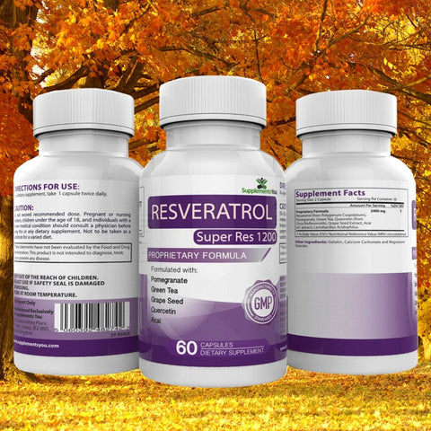 Resveratrol Super Res 1200 - Helps in Anti-Ageing Process !!!
