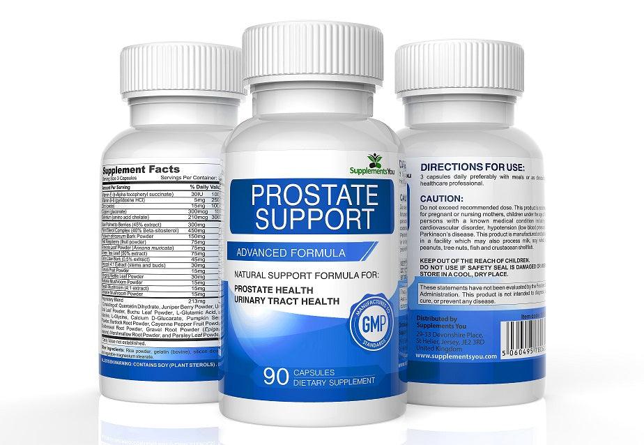 PROSTATE SUPPORT, SAW PALMETTO 90's Natural Support for Prostate & Urinary Tract