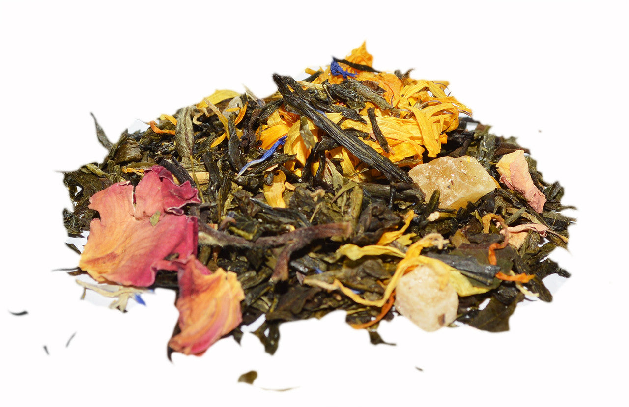 mango rose green tea