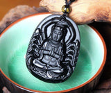 Obsidian Thousand Hands Of Buddha Necklace - Empire of the Gods