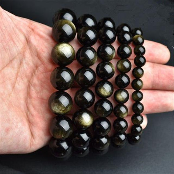 Gold Obsidian Bracelet - Empire of the Gods