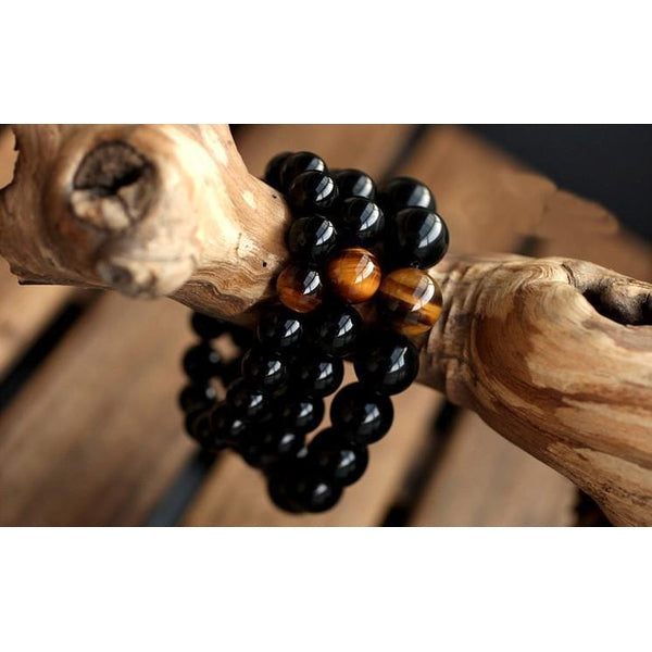 Onyx & Tiger Eye Bracelet - Empire of the Gods