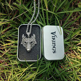 Norse Wolf Head Pendant Necklace - Empire of the Gods